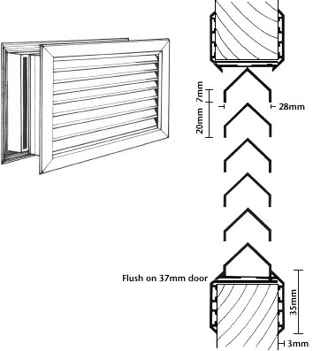 Door Grilles For Maximum Ventilation In No Vision
